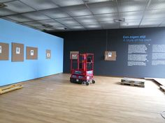 Only 1 week until the exhibition 'Van Gogh at work' opens on 1 May! Here's a behind the scenes photo as the exhibition is being installed.  Photo: Van Gogh Museum
