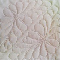 Free-motion Quilting Feather Tiling