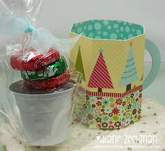 Christmas tea and cookies - hot cocoa cup made from paper - bjl