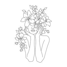 Art Sketches, Art Drawings, Drawing Drawing, Tumblr Flower, Outline Art, Abstract Line Art, Diy Canvas Art, Minimalist Art, Embroidery Art