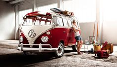 The first VW Bulli rolled off the assembly line on March 1950 in Wolfsburg. It was replaced by the in July A total of million VW Transporter were manufactured. Volkswagen Transporter, Volkswagen Bus, Vw T1, Vw Caravan, Vw Camper, Campers, Honda Shadow, Vespa, Mustang 65