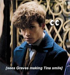 Newt's face during Graves and Tina's Moment Appreciation Post
