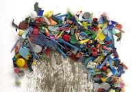 Richard Lang and Judith Selby Lang walk Kehoe beach collecting plastic and making art.