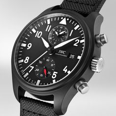 IWC Pilot's Watch Chronograph TOP GUN is available to purchase online. Iwc Watches, Watches For Men, Iwc Pilot Chronograph, Pre Owned Watches, Top Gun, Watch Sale, Luxury Watches, Guns, Super