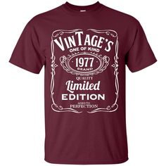 39th Birthday Vintage 1977 Limited Edition Custom Ultra Cotton T-Shirt