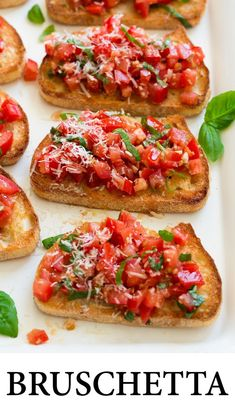 This easy recipe is a goto summer appetizer that will leave everyone satisfied and coming back for more Perfect for summer parties, weeknight dinners, or even weekend brunch! is part of Bruschetta recipe - Best Appetizer Recipes, Fun Easy Recipes, Best Appetizers, Easy Meals, Healthy Recipes, Summer Party Appetizers, Appetizers For Dinner, Appetizer Ideas, Italian Party Appetizers