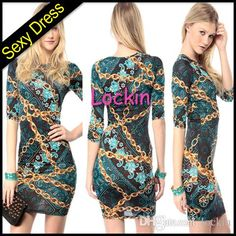 Fahion Stylish Sexy Night Dress Charming Chain Printing Pencil Dress Sexy Skirt Ladies Hip Hop Rock Bodycon Mini Party Pencil Skirt from Lockin,$7.86 | DHgate.com