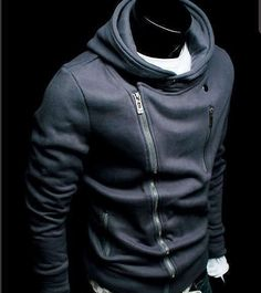 New Mens Jackets Coats Slim Fit Zip Up Hoodies Casual Fashion Multicolor Sharp Dressed Man, Well Dressed Men, Zip Up Hoodies, Sweatshirts, Fashion Moda, Mens Fashion, Korean Fashion, Style Fashion, Moda Hipster