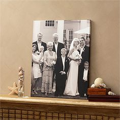 Gotta love PMall! They make it super easy (and affordable!) to turn your wedding photos or any photos into canvas art - you just have to upload it and pick out the size you want! Plenty of sizes, shapes, even with designs! #Canvas #Wedding