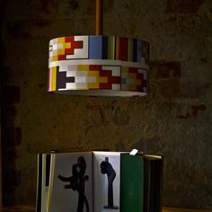 Colourful shade lamp from Lamptekture. Old Singers, Old Furniture, Attic, Shades, Modern, Vintage, Color, Home Decor, Weathered Furniture