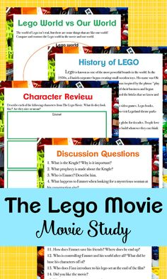 If your kids love The LEGO Movie, they will love working through this movie study based on the first film This movie study is a fun way to bring some learning to your home through movies! Homeschool Kindergarten, Homeschool Curriculum, Homeschooling, History Of Lego, Film 2014, Spelling Practice, Working With Children, Lego Movie, Worksheets For Kids