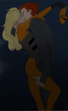 Young Justice. Artemis and Kid Flash by murrmernator.