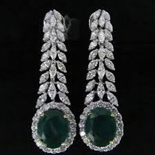 Diamond Trendy Earrings by Shobha | Diamond, Indian jewelry and ...