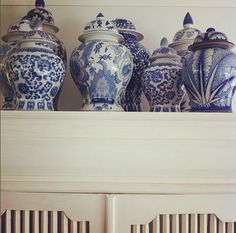 Pretty blue and white china colection