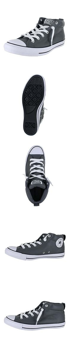 be447b5155279a Converse Men s Shoes Chuck Taylor Street Mid Leather Thunder Gray Sneakers  (9.5)
