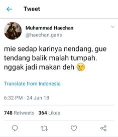 from the story receh banget Crazy Quotes, All Quotes, Jokes Quotes, Funny Quotes, Funny Tweets Twitter, Twitter Quotes, Funny Chat, Quotes Lucu, Reminder Quotes
