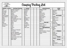 This camping packing list is perfect for a camping trip with the ...