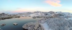 Winter in Troll Country Rogaland Norway [OC] [3840 x 1635]
