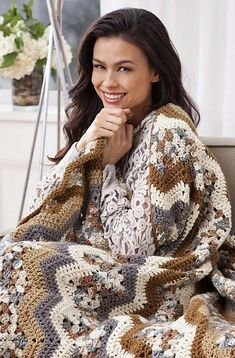 Free Ravelry: Cloudy Day Ripple Throw pattern by Mary Ann Frits