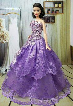 """""""Fashion Princess"""" dress for Barbie Barbie Gowns, Barbie Dress, Barbie Clothes, Barbie Mode, Barbie I, Barbie Style, Barbie Patterns, Doll Clothes Patterns, Vintage Barbie"""