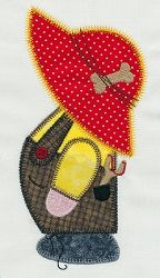 Accuquilt Go! Overall Sam Applique - 6x10 | Quilt | Machine Embroidery Designs | SWAKembroidery.com VStitchDesigns