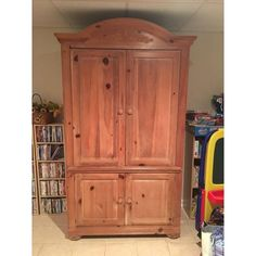 Image of Rustic Wooden Armoire