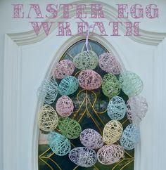 Over een maandje is het alweer Pasen! Maak deze prachtige Paaskrans met enkel wat touw & waterballonnen!