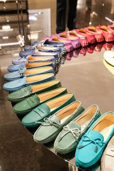 Every color of the rainbow with a pair of classic Tod's.