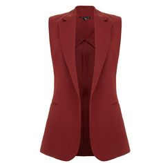 Theory Adar Beetroot Burgundy Waistcoat (305 AUD) ❤ liked on Polyvore featuring outerwear, vests, burgundy, waistcoat vest, red waistcoat, lapel vest, red vest and theory vest