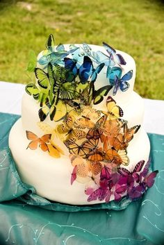 Martha Stewart Replica Wedding Cake Butterfly by Clearcutcrafts