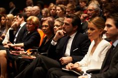 The Greek Royal Family attended a documentary of King Paul in commemoration of the 50th anniversary of his death, March 5, 2014-l-r Princess Alexia, Princess Maria Olympia, Princess and Prince Pavlos, Queen Anne Marie, Queen Sofia, Princess Irene, Prince and Princess Nikolaos, Prince Philippos