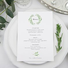 Tuscany Table Menu by Peony & Rose