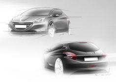 Peugeot 208 - Design Sketch