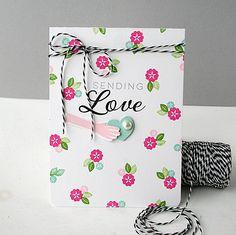 Sending Love Card by Danielle Flanders for Papertrey Ink (December 2014)