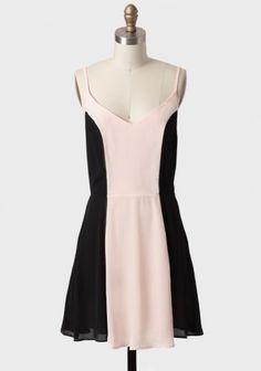 Colorblock tank dress