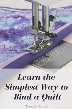 Fantastic Photos Quilting techniques Ideas Are you struggling with quilt binding? Learn the simplest way to bind any sized quilt. Quilting Tips, Quilting Tutorials, Quilting Projects, Sewing Tutorials, Beginner Quilting, Quilting Board, Crazy Quilting, Machine Quilting, Machine Embroidery