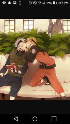 Oh my gosch Why does  Naruto gives Kakashi a Kiss