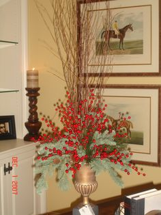Christmas arrangement in an urn