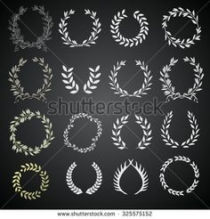 Find Laurel Wreath Set Laurel Wreaths Vector stock images in HD and millions of other royalty-free stock photos, illustrations and vectors in the Shutterstock collection. Thousands of new, high-quality pictures added every day. Wreath Watercolor, Floral Watercolor, Laurel Wreath Tattoo, Leaf Symbol, Cup Decorating, Wedding Branding, Laurel Leaves, Hand Drawn Flowers, Stock Foto