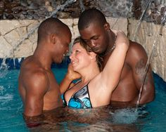 Oreo cookie in the pool at Hedonism II. https://www.adultvacationparties.com/resorts/hedonism