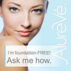 Become one of the many people who no longer need foundation thanks to AlureVé skin care changing your skin. #foundationfree