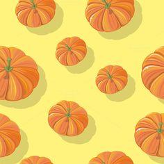 Pumpkin Seamless Pattern by robuart on @creativemarket