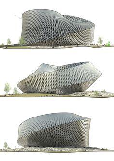 BIG (Bjarke Ingels Group). Multicultural center for Astana, Kazakhstan. Mobius architecture