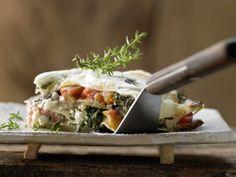 Auberginen-Lasagne mit Blattspinat und Tomaten: Vegetarische Version des Hackfleischklassiker der Cucina italiana. Liefert besonders viel Vitamin A.