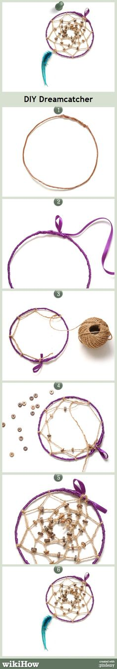 DIY Dreamcatcher, in under 10 steps! #crafts