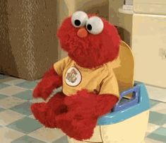 The perfect Elmo Poop Toilet Animated GIF for your conversation. Discover and Share the best GIFs on Tenor. Elmo Potty, Elmo Memes, Les Muppets, Baby Elmo, Vietnam Voyage, Fraggle Rock, Expectation Vs Reality, Work Humor, Work Funnies