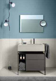 all parts customizable Contemporary Small Bathrooms, Modern Bathroom, Restroom Design, Bathroom Interior Design, Flat Interior, Upstairs Bathrooms, Bathroom Furniture, Interiores Design, Bedroom Decor