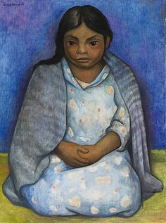 Indian woman by Diego Rivera Diego Rivera Art, Diego Rivera Frida Kahlo, Popular Art, Arte Popular, Frida E Diego, Matisse, Mexican Artists, Museum Of Modern Art, Statues