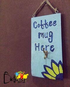 En Dilettantes Art Craft reutilizamos pedazos de madera y los hacemos algo útil para que decores tu espacio personal.   Un regalo personal: Coffee mug here... cuelga tu taza luego de un delicioso café hondureño. Feliz Lunes!  https://www.facebook.com/DilettantesArtCraft