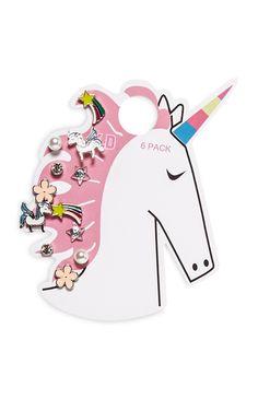 Primark - 6Pack Unicorn Earrings